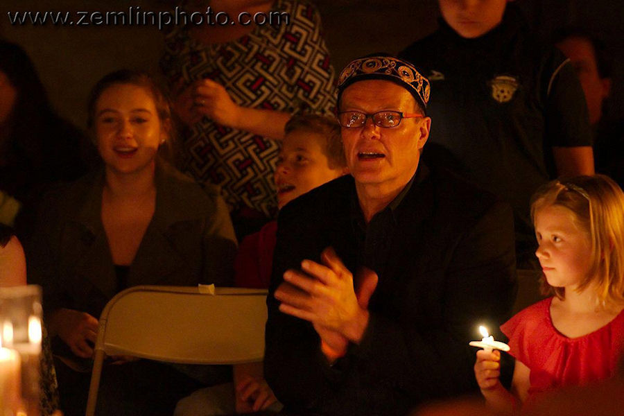 Pastor Stephen enjoying the ritual.